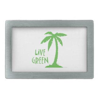 Palma verde viva hebilla de cinturón