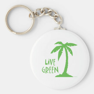 Palma verde viva llaveros