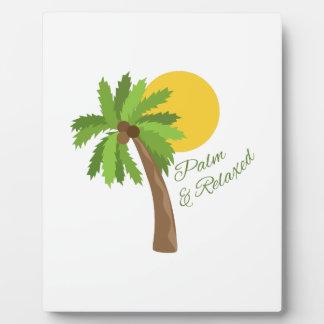 Palma y relajado placas con fotos