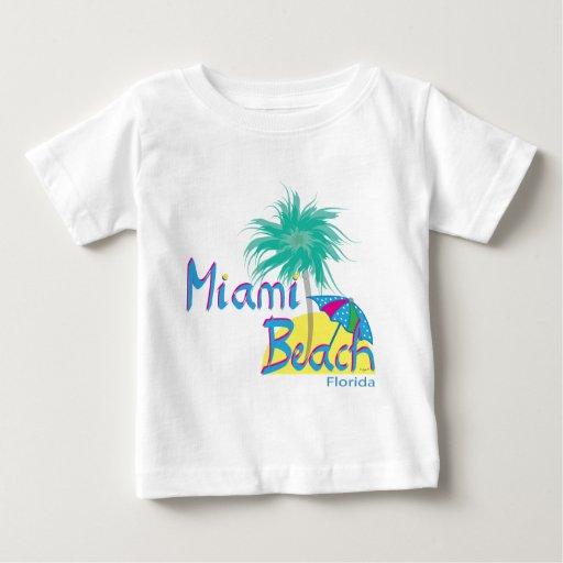Palma y sol de Miami Beach Playeras