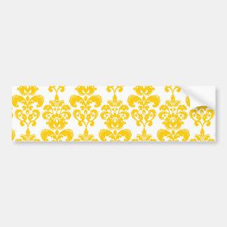 palmadita ffcc00.png amarillo del damasco 2 pegatina para auto