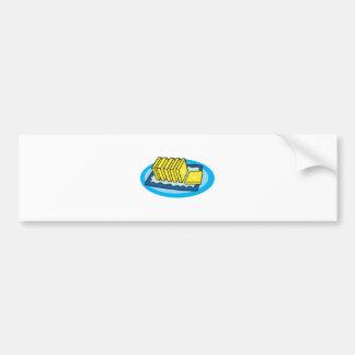 palmaditas de la mantequilla etiqueta de parachoque