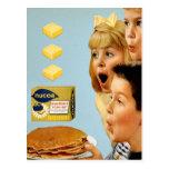 Palmaditas retras de la margarina 3 de Nucoa del a Tarjeta Postal