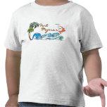palmas 3d, ondas y puesta del sol FUERTE MYERS Camisetas