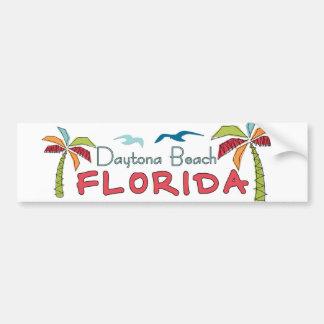 Palmas artsy de Daytona Beach la Florida Pegatina De Parachoque