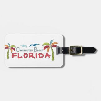 Palmas artsy de la Florida de la playa de Clearwat Etiqueta Para Equipaje