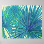 palmas azules abstractas impresiones