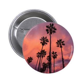 Palmas de California Pin Redondo De 2 Pulgadas