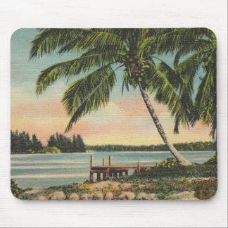 Palmas de coco del vintage mousepad