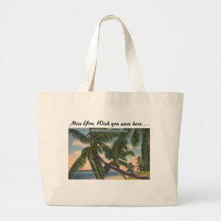 Palmas de coco en la costa suroriental de la bolsa tela grande