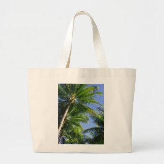 Palmas de coco hawaianas bolsa tela grande