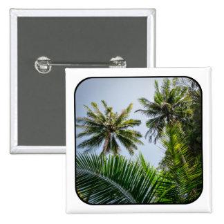 Palmas de coco pin cuadrado