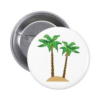 Palmas de coco pin redondo de 2 pulgadas