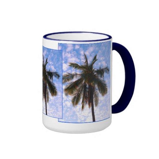 Palmas de coco taza