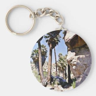 Palmas de fan de California, oasis perdido de las  Llavero Redondo Tipo Pin