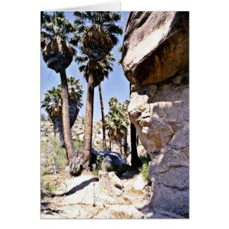 Palmas de fan de California, oasis perdido de las  Tarjeta De Felicitación