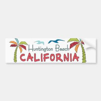 Palmas de Huntington Beach California Pegatina De Parachoque