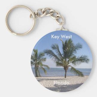 Palmas de Key West Llavero Redondo Tipo Pin