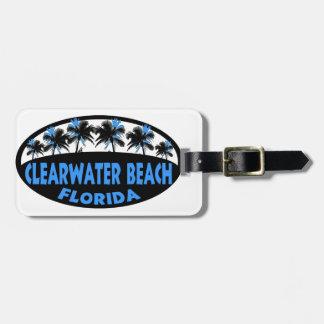 Palmas de la Florida de la playa de Clearwater Etiqueta Para Equipaje
