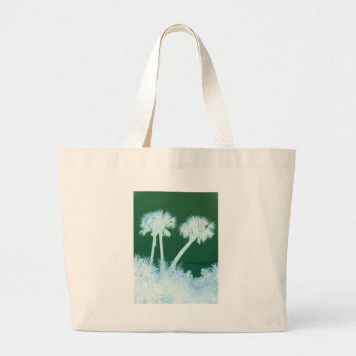 Palmas de la nieve bolsa de tela grande