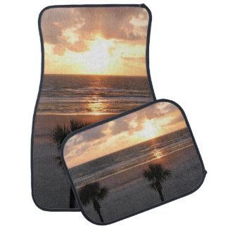 Palmas de la playa de la Florida en las esteras de Alfombrilla De Auto
