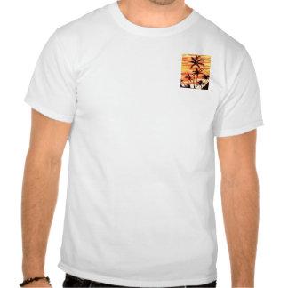 Palmas de la puesta del sol de Hawiian Camisetas