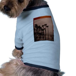 Palmas de la sepia camiseta con mangas para perro