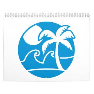 Palmas de las vacaciones de verano calendarios de pared