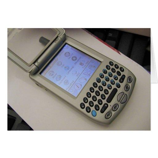 Palmas de los teléfonos móviles de los PDA de la P Tarjeton