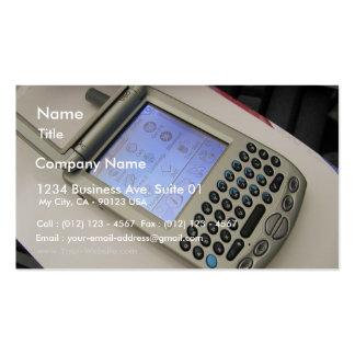 Palmas de los teléfonos móviles de los PDA de la P Tarjeta De Negocio