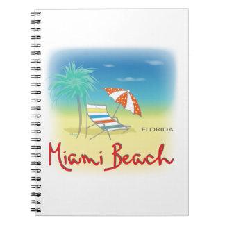 Palmas de Miami Beach Libros De Apuntes Con Espiral
