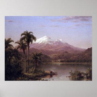 Palmas de Tamaca por la iglesia de Federico Edwin Posters