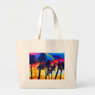Palmas del arco iris bolsa de mano