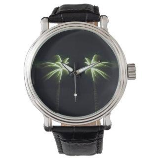 Palmas del fuego artificial relojes de mano