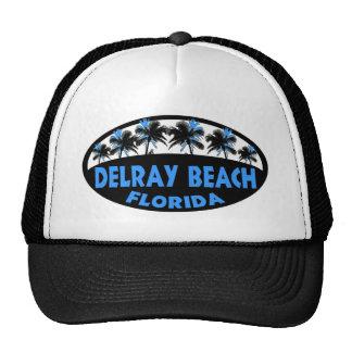 Palmas del negro azul de Delray Beach la Florida Gorras De Camionero
