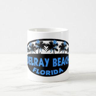 Palmas del negro azul de Delray Beach la Florida Tazas
