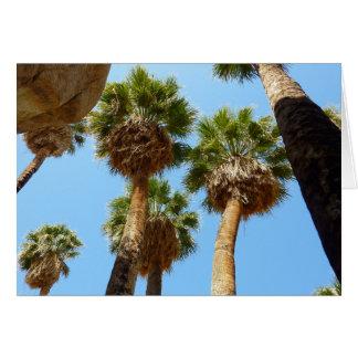 Palmas del oasis en parque nacional de la yuca tarjeta de felicitación
