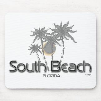Palmas del sur del gris de Miami de la playa Mouse Pads