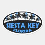 Palmas dominantes del negro azul de la Florida de Pegatina Ovalada