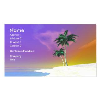 Palmas en el blanco - negocio tarjeta de visita