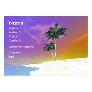 Palmas en el blanco - rechoncho plantillas de tarjetas personales
