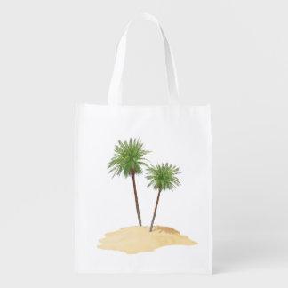Palmas en el bolso de la isla bolsas para la compra