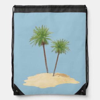 Palmas en el bolso de la isla mochilas