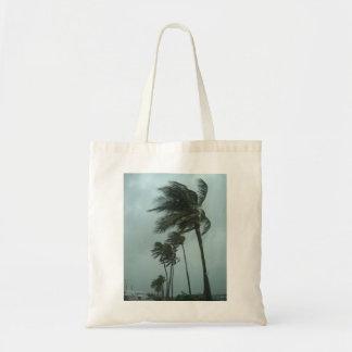 Palmas en el bolso de la tormenta bolsas lienzo