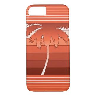 Palmas hawaianas de Hilo rayadas Funda iPhone 7