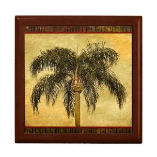 Palmas hawaianas del vintage de la palmera cajas de recuerdo