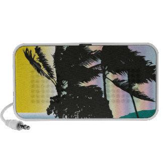 Palmas hawaianas tempestuosas laptop altavoz