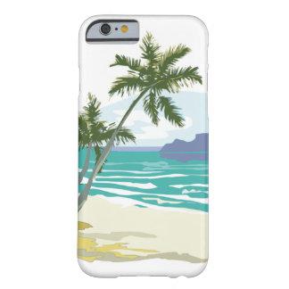 Palmas, océano y montañas funda de iPhone 6 barely there