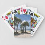 Palmas sombrías barajas de cartas