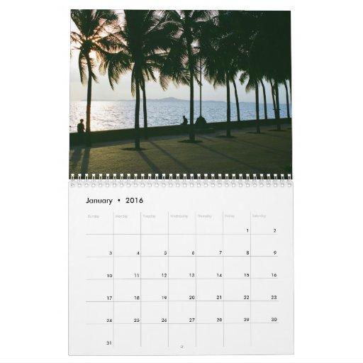 Palmas tropicales calendarios de pared